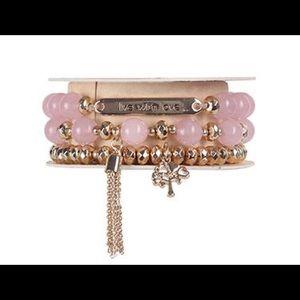 Live With Love pink wrap bracelet